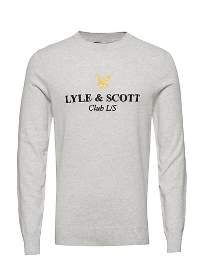 Club L/S Knitted Jumper Strickpullover Rundhals Grau LYLE & SCOTT