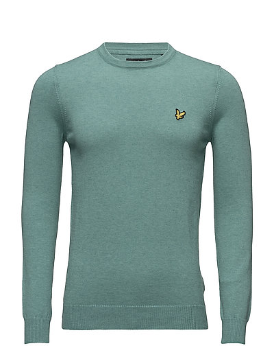 Crew Neck Cotton Merino 12gg Jumper - MID GREEN