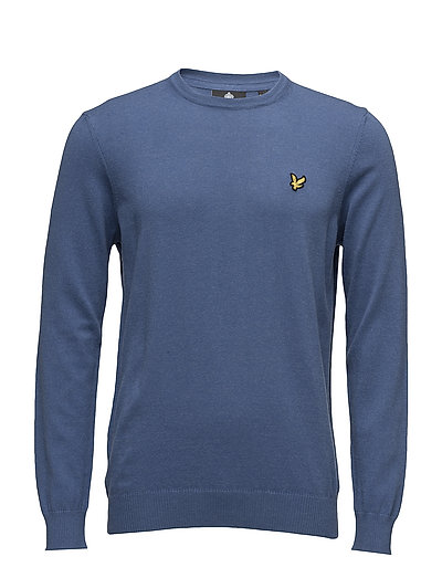 Crew Neck Cotton Merino 12gg Jumper - STORM BLUE MARL