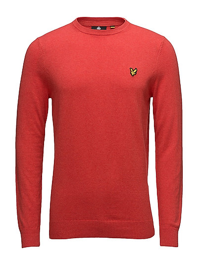Cotton Merino Crew Jumper - POPPY MARL
