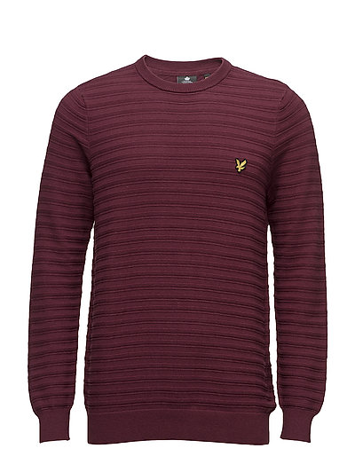 Textured Stripe Jumper - CLARET JUG