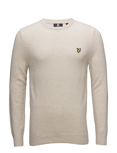 Crew Neck Lambswool Blend Jumper - SANDY MARL