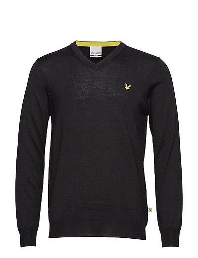 Bowmont: V Neck Pullover - TRUE BLACK