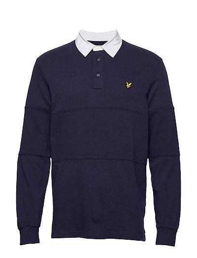 Ls Rugby Polo Shirt Polos Long-sleeved Blau LYLE & SCOTT