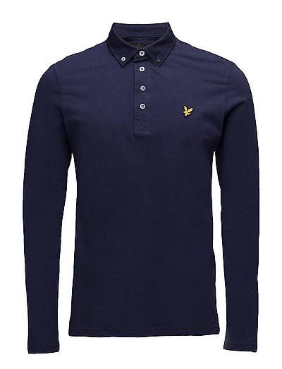 LS Woven Collar Polo Shirt - NAVY