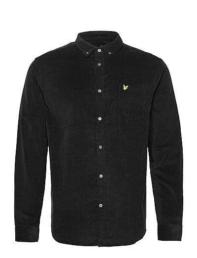 Needle Cord Shirt Hemd Casual Schwarz LYLE & SCOTT
