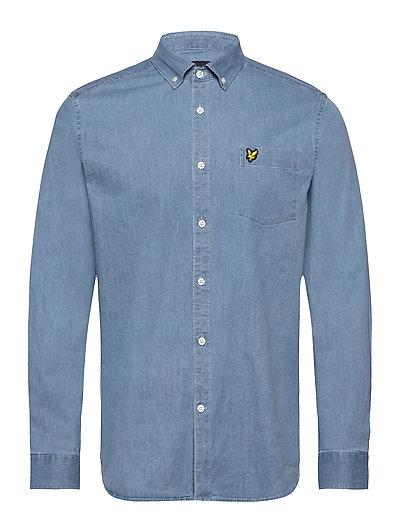 Indigo Ls Shirt Hemd Casual Blau LYLE & SCOTT
