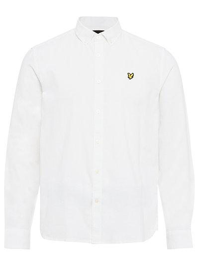 Cotton Linen Shirt Hemd Casual Weiß LYLE & SCOTT