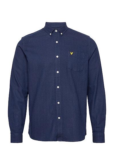 Brushed Herringb Shirt Hemd Casual Blau LYLE & SCOTT