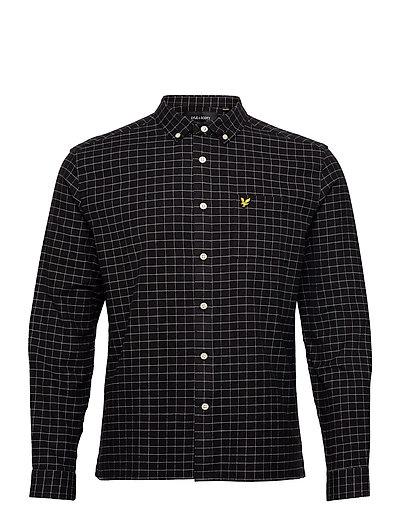 Grid Check Shirt Hemd Casual Schwarz LYLE & SCOTT
