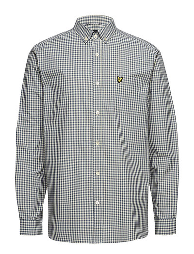 Gingham Shirt - MIST BLUE