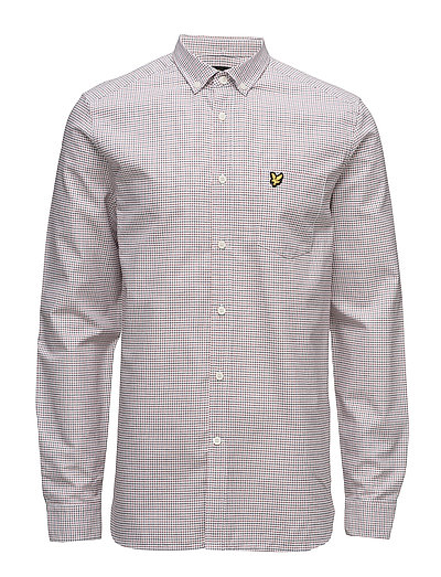 Tattersal Check Shirt - WHITE