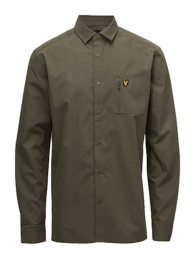 Zip Pocket Overshirt - OLIVE