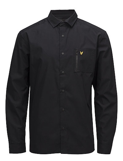 Zip Pocket Overshirt - TRUE BLACK