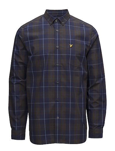 Poplin Check Shirt - NAVY