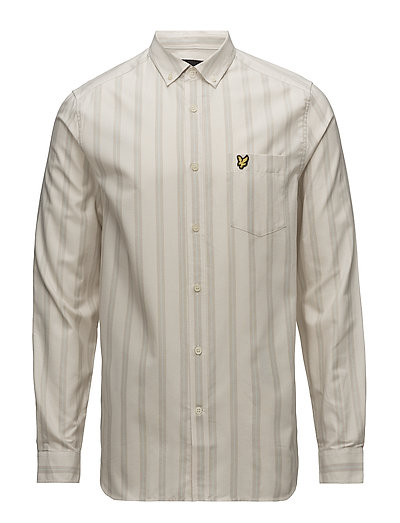 LS Deckchair Stripe Shirt - SEASHELL WHITE