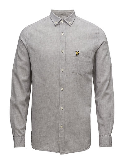 Cotton Linen Shirt - TRUE GREY