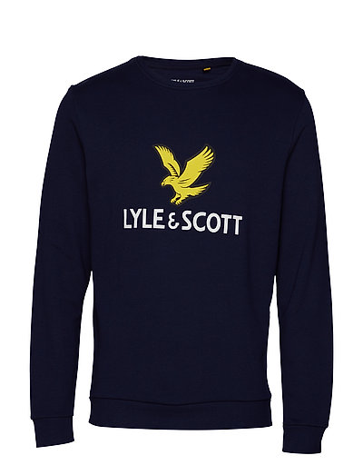 Logo Sweatshirt Sweat-shirt Pullover Blau LYLE & SCOTT