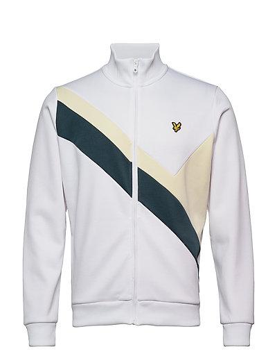 Archive Panel Funnel Neck Sweat-shirt Pullover Weiß LYLE & SCOTT