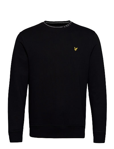 Branded Ringer Sweatshirt Sweat-shirt Pullover Schwarz LYLE & SCOTT