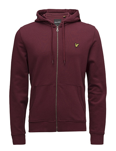 Zip Through Hoodie - CLARET JUG