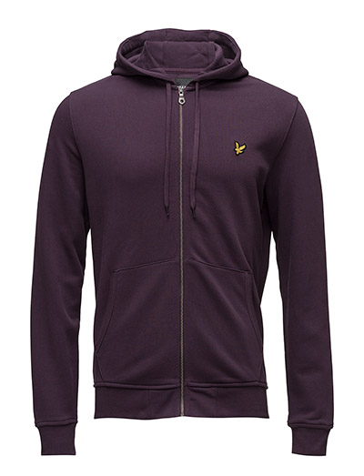 Zip Through Hoodie - DEEP PLUM