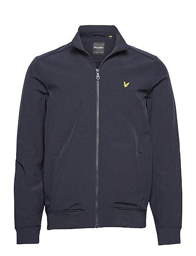 Zip Through Funnel Neck Soft Shell Jacket Dünne Jacke Blau LYLE & SCOTT