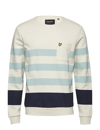 Stripe Sweatshirt - SEASHELL WHITE