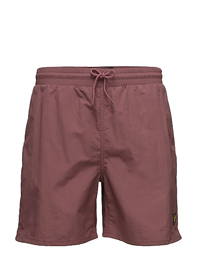 Plain Swim Short - RED GRAPE