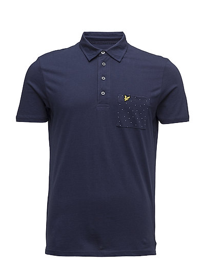 Mini Square Dot Pocket Polo Shirt - NAVY