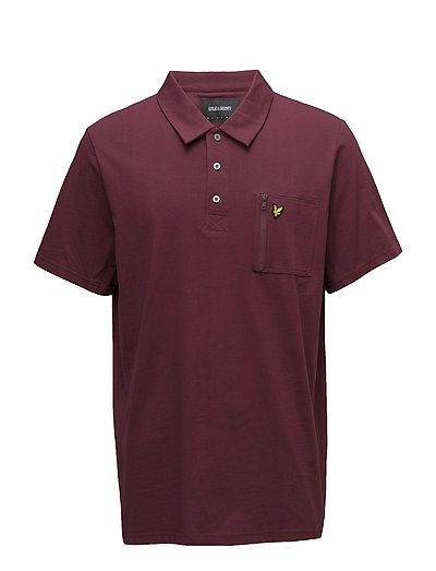 Zip Pocket Polo Shirt - CLARET JUG