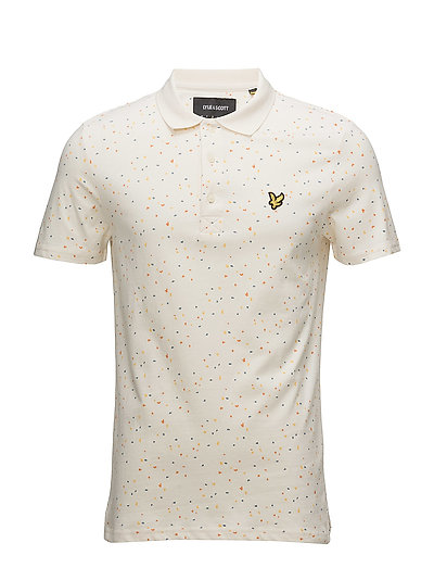 Climbing Wall Print Polo Shirt - SEASHELL WHITE