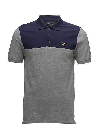 Yoke Polo Shirt - MID GREY MARL