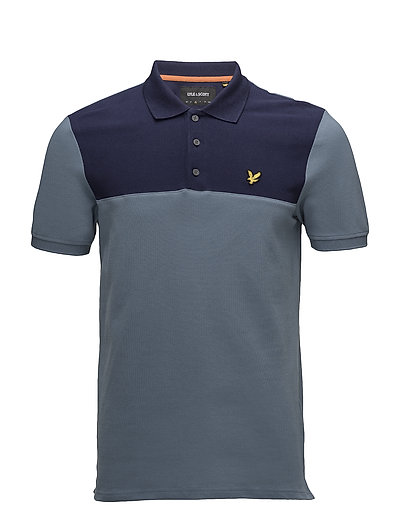 Yoke Polo Shirt - MIST BLUE