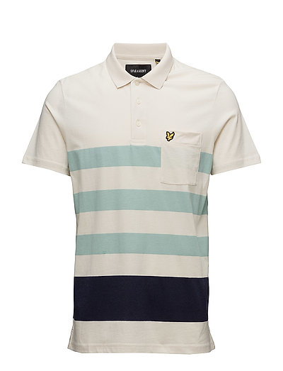 Wide Stripe Polo Shirt - SEASHELL WHITE