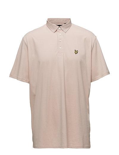 Woven Collar Polo Shirt - DUSTY PINK