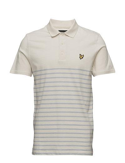 Breton Stripe Polo Shirt - STONEWASH BLUE