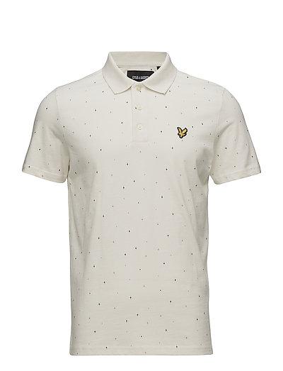 Micro Print Polo Shirt - SEASHELL WHITE