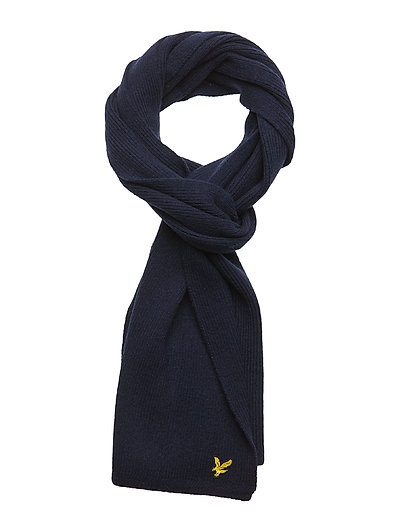 Racked rib scarf - BLUE