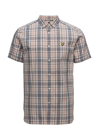 SS Check Shirt - DUSTY PINK