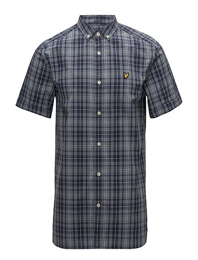 SS Check Shirt - MIST BLUE