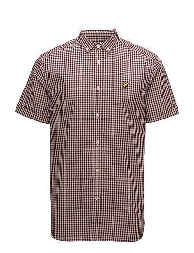 SS Gingham Shirt - CLARET JUG