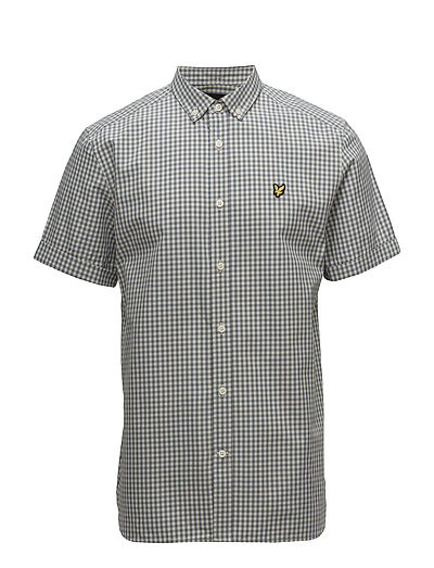 SS Gingham Shirt - MIST BLUE