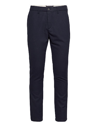 Wool Blend Trouser Chinos Hosen Blau LYLE & SCOTT