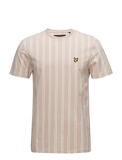 Deckchair Stripe T Shirt - DUSTY PINK