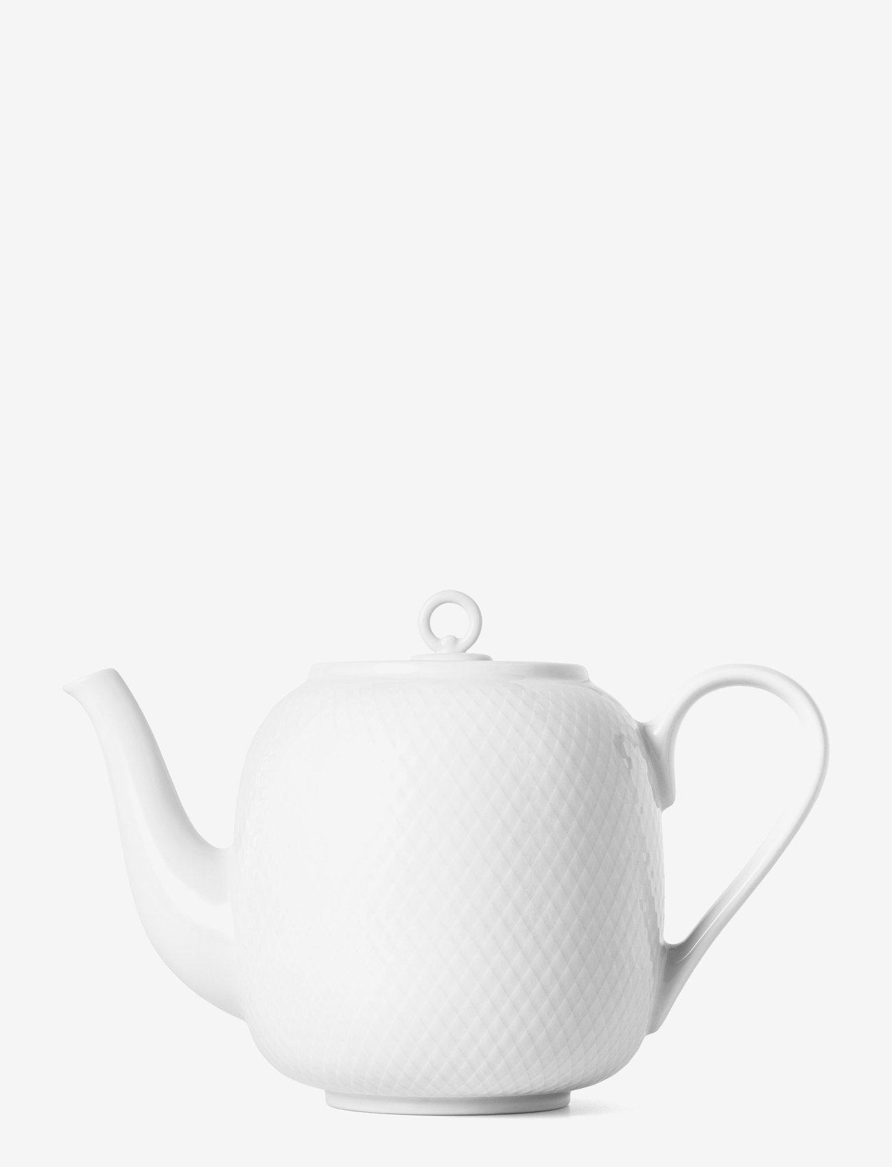 Lyngby Porcelæn - Rhombe Teapot 1,9 l - 100–200€ - white - 0
