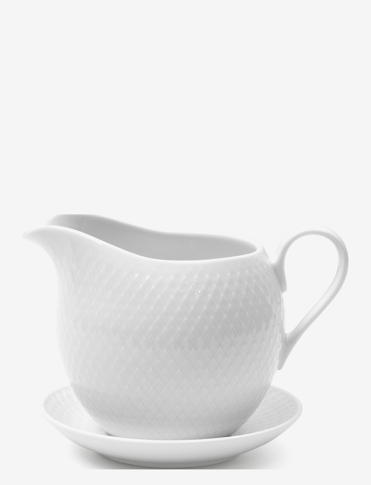 Lyngby Porcelæn - Rhombe Sausekanne 67 cl - sausenebb og sausekanner - white - 0