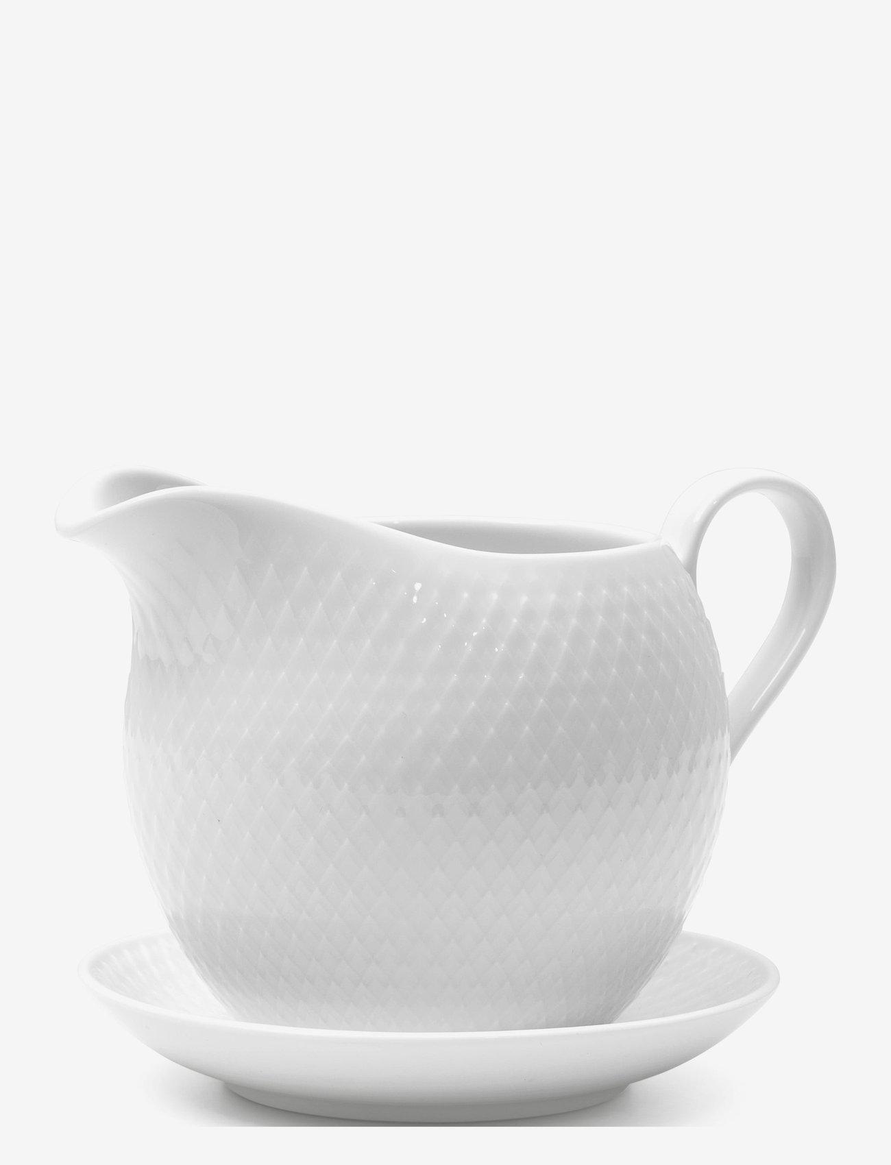 Lyngby Porcelæn - Rhombe Sausekanne 67 cl - sausenebb og sausekanner - white - 1