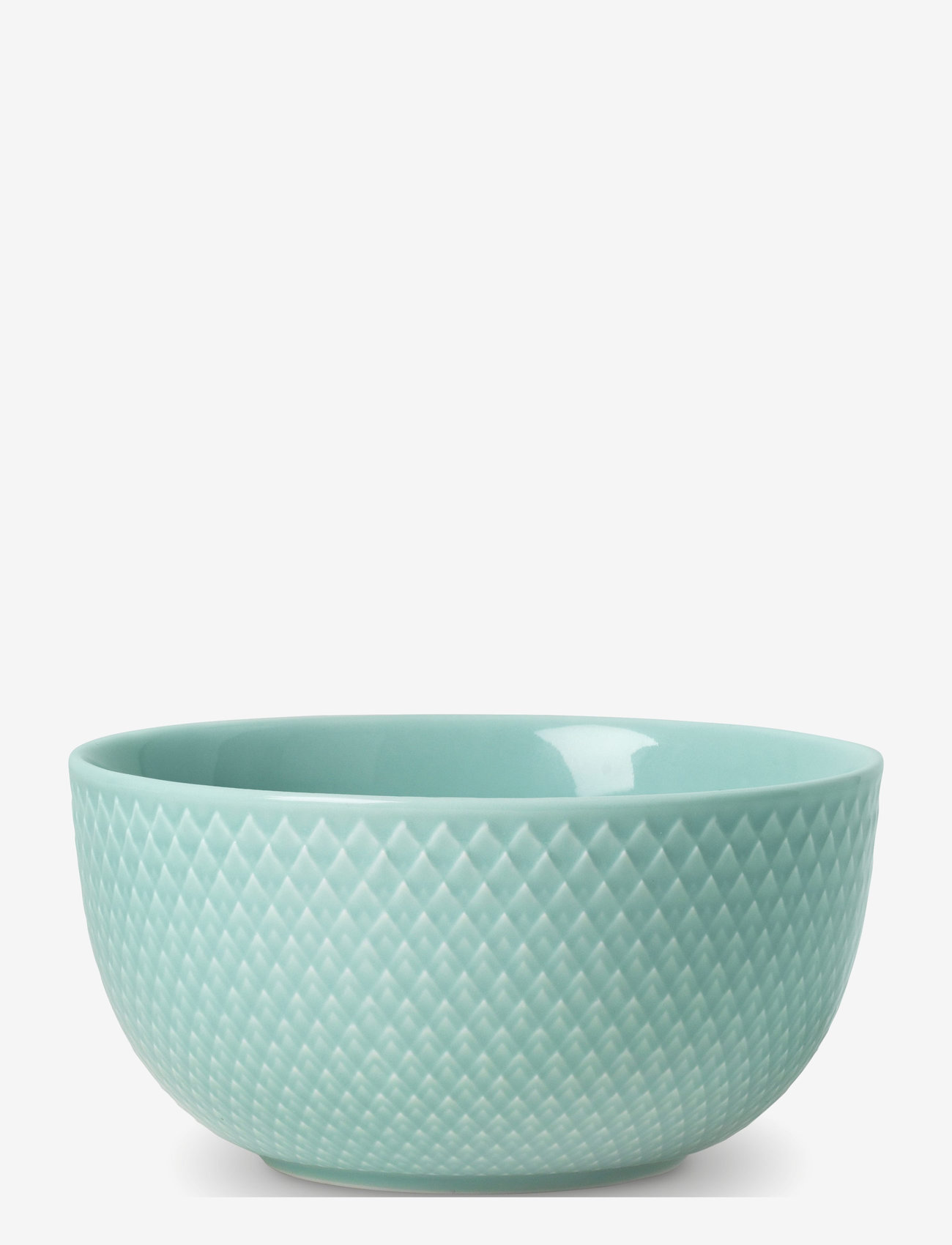 Lyngby Porcelæn - Rhombe Color Bowl - aamiaiskulhot - aqua - 0