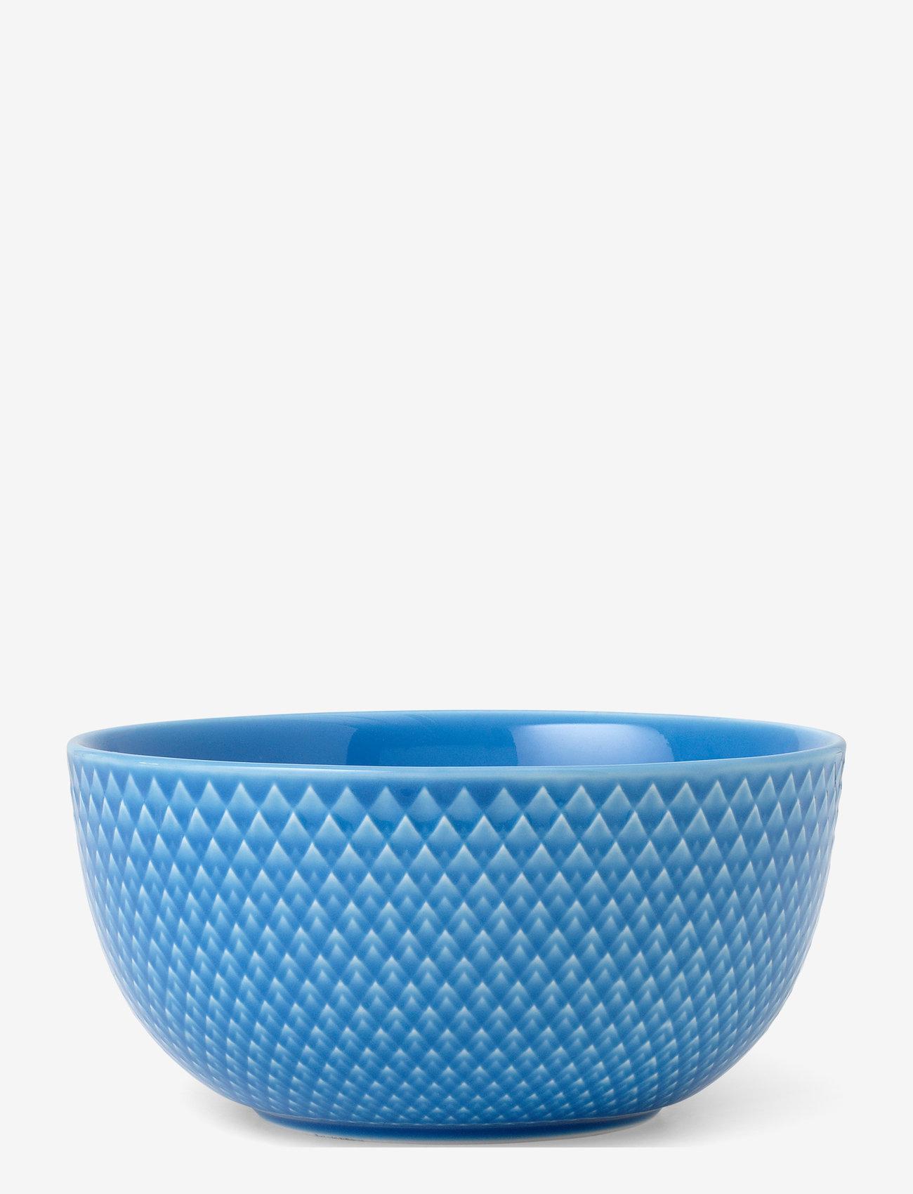 Lyngby Porcelæn - Rhombe Color Bowl - aamiaiskulhot - blue - 0